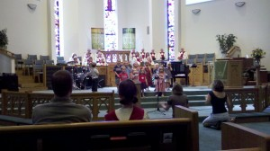 Burks United Methodist children's choir