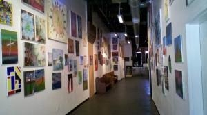 Mosaic hallway of art