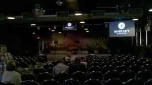 River City Church - stage and seating