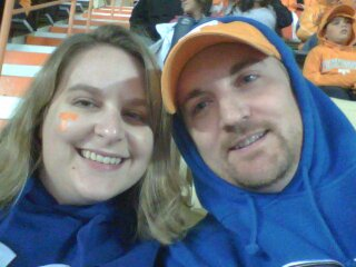 Bonus Photo - Josh & Laura at the MTSU/UT football game w/ mixed emotions